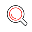 Loupe, Find, zoom, search, magnifying glass Black icon