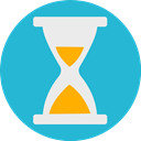 Clock, Challenge, time, sand LightSeaGreen icon