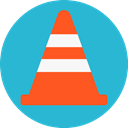 cone, Construction, Maintenance, Traffic MediumTurquoise icon