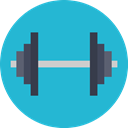 fitness, exercise, gym, gymnasium LightSeaGreen icon