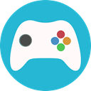 Control, play, gamepad, Game, controller LightSeaGreen icon