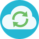 Synchronize, Cloud, sync, synced LightSeaGreen icon
