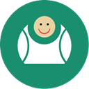 Big, Contact, Fat, Fun, laugh, green SeaGreen icon