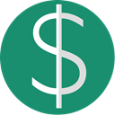 Currency, Dollar, minimal, Euro, Finance, green SeaGreen icon