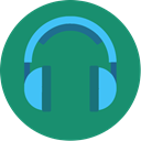 music, Headphone, Blue, songs, media, song, Headset SeaGreen icon