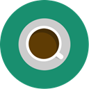 minimal, Coffee, Cafe, green, Brown SeaGreen icon