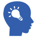 bulb, brainstorming, lightbulb, thoughts, creative, Idea SteelBlue icon