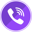 Viber, Communication, Call, Mobile, phone, calls BlueViolet icon