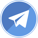 Chat, telegram, Message, send, media CornflowerBlue icon