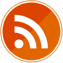 Orange, Social, share, Rss Chocolate icon