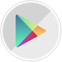 Android, google, online, googleplay, store, shopping, market LightGray icon