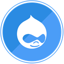 template, Drupal, cms, internet CornflowerBlue icon
