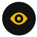 view, Eye, Find, zoom, magnifying Black icon