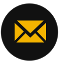 Email, envelope, Chat, mail, Letter Black icon