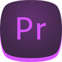 Pr, Premiere, adobe DarkSlateGray icon