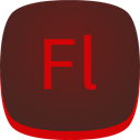 Flash, Fl, adobe Maroon icon