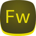 adobe, Fw, Fireworks DarkOliveGreen icon