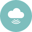 Cloud, signal, technology, Cloud computing MediumAquamarine icon