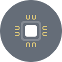 Cpu, microchip, chipset, Computer, hardware, Chip, processor DimGray icon