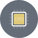 chipset, Computer, Cpu, hardware, Chip, processor, microchip DimGray icon