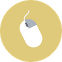 Click, Mouse, tool, Device, input, Computer, hardware BurlyWood icon