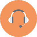 Multimedia, Skype, Headset, Communication, media, Device, Headphone SandyBrown icon