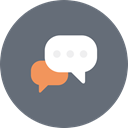 Bubble, Chat, Bubbles, speech, Communication, Dialogue, talk DimGray icon
