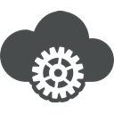 customize, Gear, Cloud, Cog, Control, preferences, Options DarkSlateGray icon