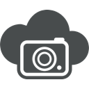 Cloud, photo, Cloud computing, Camera, Multimedia, image, picture DarkSlateGray icon