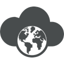 globe, Cloud, planet, global, Communication, earth, globe map DarkSlateGray icon