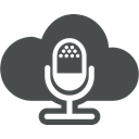 entertainment, Multimedia, Cloud computing, interview, Cloud, Microphone, mic DarkSlateGray icon