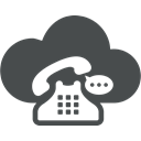 speech, retro, Cloud, Communication, Cloud computing, telephone, Bubble DarkSlateGray icon