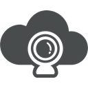 Cloud computing, Cloud, Multimedia, Communication, Cam, web DarkSlateGray icon