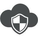 Brand, safety, Protection, Cloud, Cloud computing, shield, Defence DarkSlateGray icon