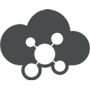 Communication, Community, Cloud computing, Connection, sign, network, Cloud DarkSlateGray icon