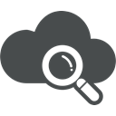 seo, Cloud, Explore, Cloud computing, search, Find, Magnifier DarkSlateGray icon