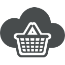 store, e-commerce, Cloud, Basket, shopping, Cart, Bag DarkSlateGray icon