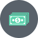 Bills, Money, Dollar, exchange, payment, Price, Cash DimGray icon