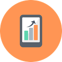 Mobile, graph, Diagram, Analysis, chart, smartphone, graphs SandyBrown icon