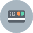 Cash, credit, banking, mastercard, payment, card, Billing Silver icon