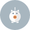 Money, piggy bank, pig, savings, Cash Silver icon