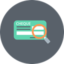 Cheque, Magnifier, Explore, Cash, Check, Finance, banking DimGray icon