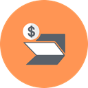 Dollar, banking, Folder, coin SandyBrown icon