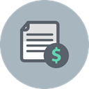 Finance, File, Business, Dollar, document Silver icon