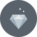 luxury, gem, sparkle, diamond, value, wealth DimGray icon