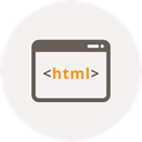 Coding, Development, Browser, Code, Programming, html, window Icon
