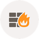 safety, wall, fire, security, Firewall, online protection WhiteSmoke icon