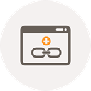 Add, Link, hyperlink, link building, Browser, Connect, Anchor WhiteSmoke icon