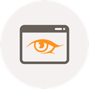 watch, window, Browser, Eye, view, Application, see WhiteSmoke icon