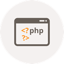 html, Php, website, Code, window, Coding, Development WhiteSmoke icon
